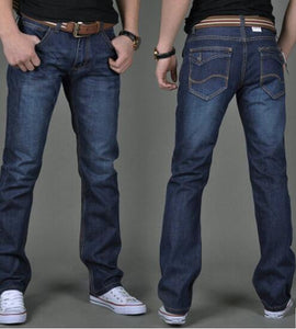 1 Pcs Jeans For Men Cheap China Straight Regular Fit Denim Jeans Pants Classic Blue Color Brand Clothes Size 28 To 38 BN446
