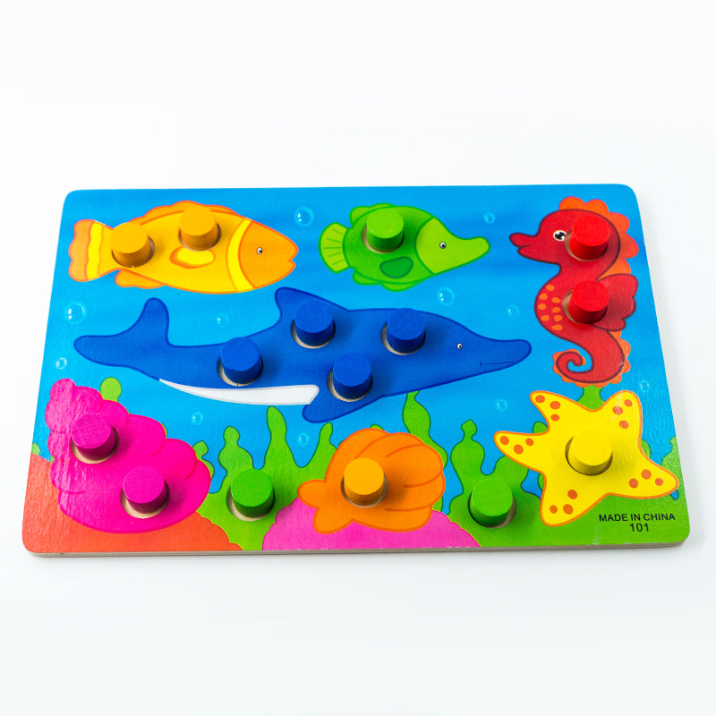 1 Set Montessori Wooden Tangram Jigsaw Board Educational Early Learning Cartoon Wood Puzzles Games Kids Toys for Children Gifts - Cerkos.com