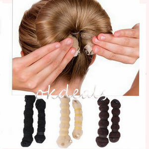 1 Set Women Girl Magic Style Hair Styling Tools Buns Braiders Curling Headwear Hair Rope Hair Band Accessories - Cerkos.com