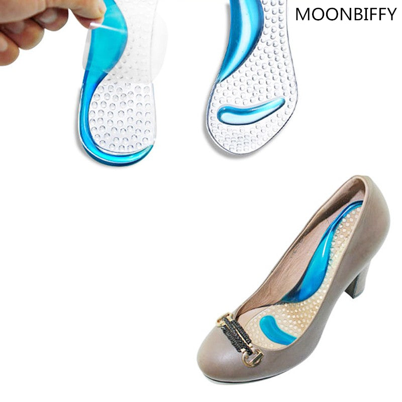 1 pair Non-Slip Sandals High Heel Arch Cushion Support Silicone Gel Pads Shoes Insole Woman Insoles cushion #FM0995