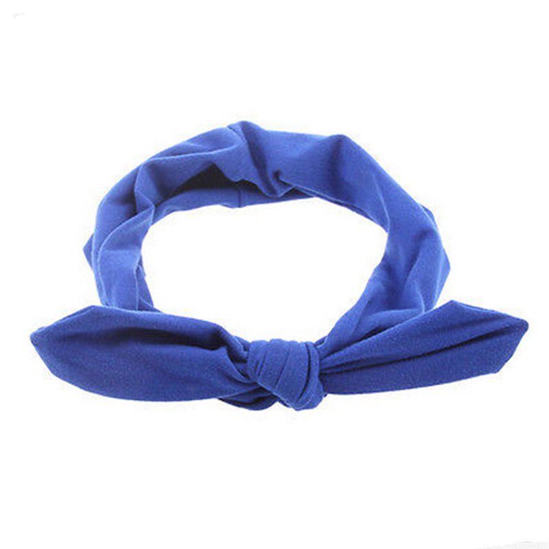 1 pc Women Fashion Elastic Stretch Plain Rabbit Bow Style Hair Band Headband Turban HairBand hair accessories
