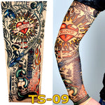 1 pc tattoo sleeves W-09 styles elastic Fake 100% nylon Arm stockings beloved girl design halloween tatoo sexy women hot sale