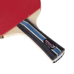 1 pcs Long handle shake hand table tennis racket ping pong paddle + waterdichte tas pouch rode