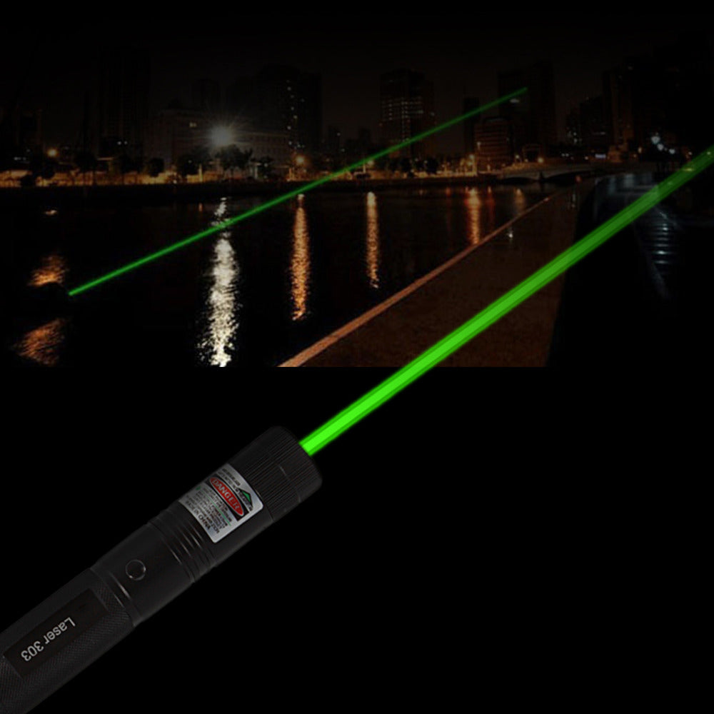 1 pcs Powerful Laser303 Adjustable Focus 532nm Green Laser Pointer Light Output power less than 1mw no battery