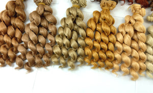 1 piece 15cm x 100cm brunette blonde coffee black brown natural color curly doll wigs hair for 1/3 1/4 1/6 BJD SD diy