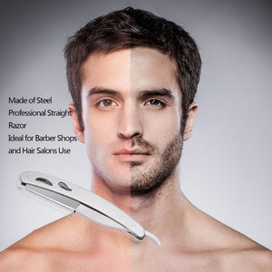 1 set Straight Barber Edge Steel Razors Folding Shaving Knife With 10 pcs Blades Drop Shipping Wholesale - Cerkos.com