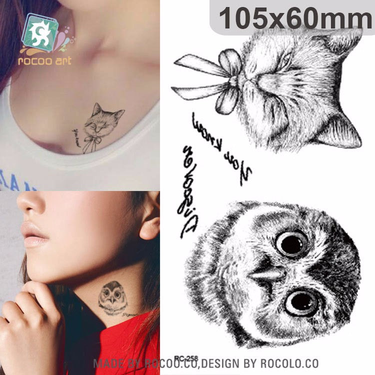 10 PCS 1 Lot Fashion Men And Women Tattoo Lovely butterfly diamond Bird Owl Body Art Flash Waterproof Temporary Tattoos Stickers