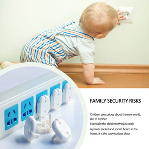 10 Pcs 2 Hole Sockets Cover Plugs Baby Electric Sockets Outlet Plug Kids Electrical Safety Protector Sockets Protection hot sale