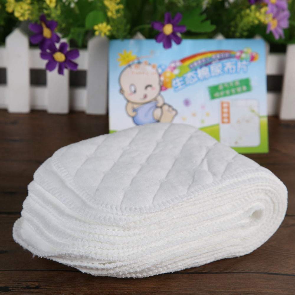 10 Pcs Baby Nappies Reusable Baby Infant Newborn Cloth Diaper Nappy Liners Insert 3 Layers Cotton S L Size