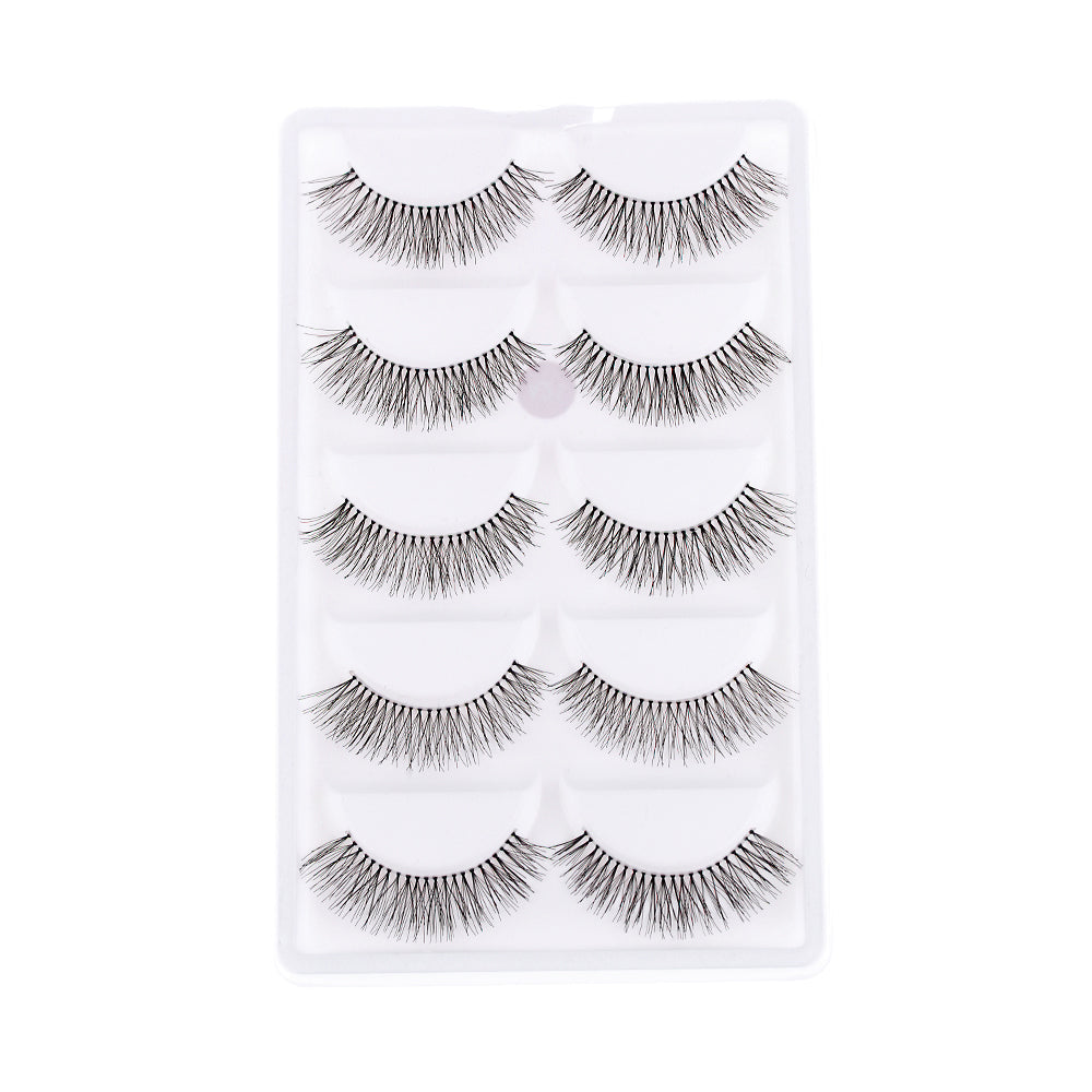 10 Pieces/1 set Natural Sparse Cross Eye Lashes Extension Makeup Long False Eyelashes MX
