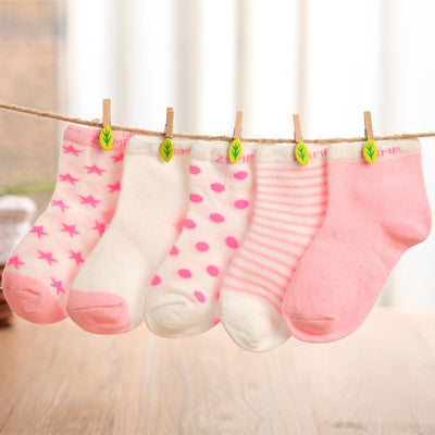 10 pieces/lot=5pair Cotton Baby Socks Newborn Floor Socks Girl and Boy Short Socks