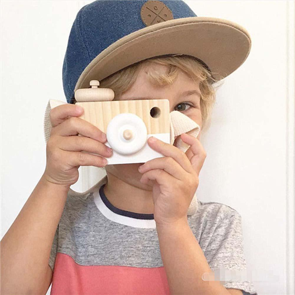 100% Genuine Cute Wooden Cameras Toy Safe Natural for Children Fashion Pink White Clothing Accessory Baby Birthday Xmas Gift