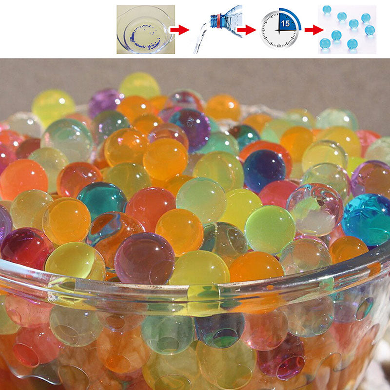 10000pcs/packet 9-13mm colored orbeez soft crystal water paintball gun bullet grow water beads grow balls water gun toys