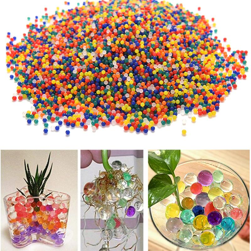 10000pcs/packet colored orbeez soft crystal water paintball gun bullet grow water beads grow balls water gun toys