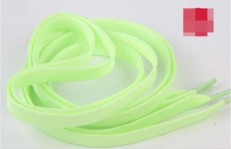 100CM 1 Pairs=2 PCS Sport Men Women Luminous Shoelace Glow In The Dark Fluorescent Shoelace Athletic Flat Shoe Laces ASL661A