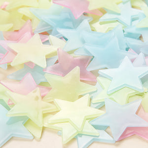 100pcs Luminous Wall Stickers Glow In The Dark Stars Sticker Decals for Kids Baby rooms Colorful Fluorescent Stickers Home decor
