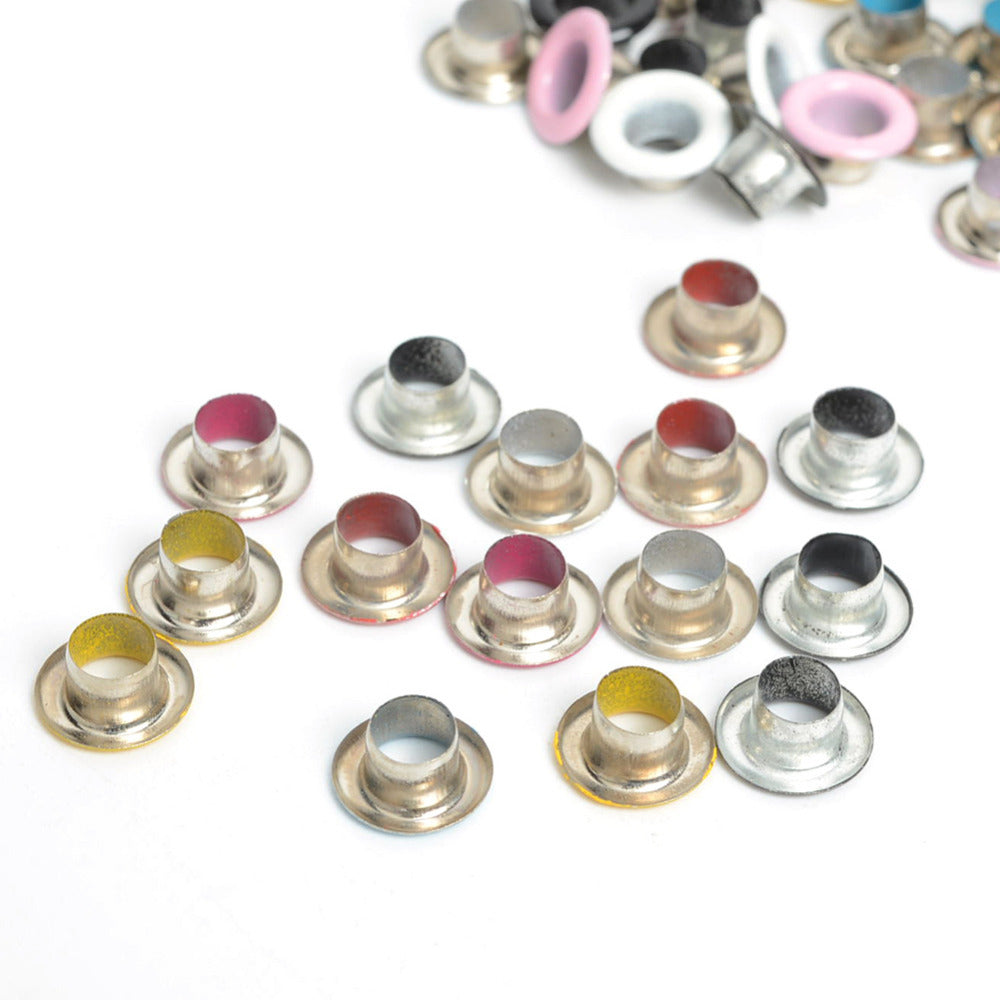 100pcs Scrapbook Eyelet Random Mixed Color Metal eyelets For Scrapbooking DIY embelishment garment clothes eyelets