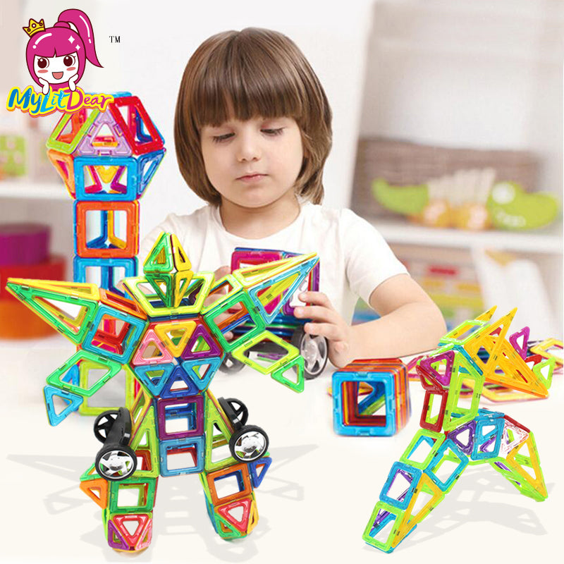 106PCS Big Size Magnetic Designer Building Blocks Model & Building Toys Brick Enlighten Bricks Magnetic Toys for Children