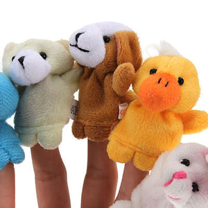 10PCS Farm Zoo Animal Finger Puppets Toys Boys Girls Babys Party Bag Filler NEW