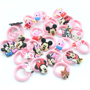 10PCS/Lot Fashion Kids Rubber Headbands Soft Fabric Cartoon Girls Headwear Children Hair accessories Hair Elastic Hair Bands