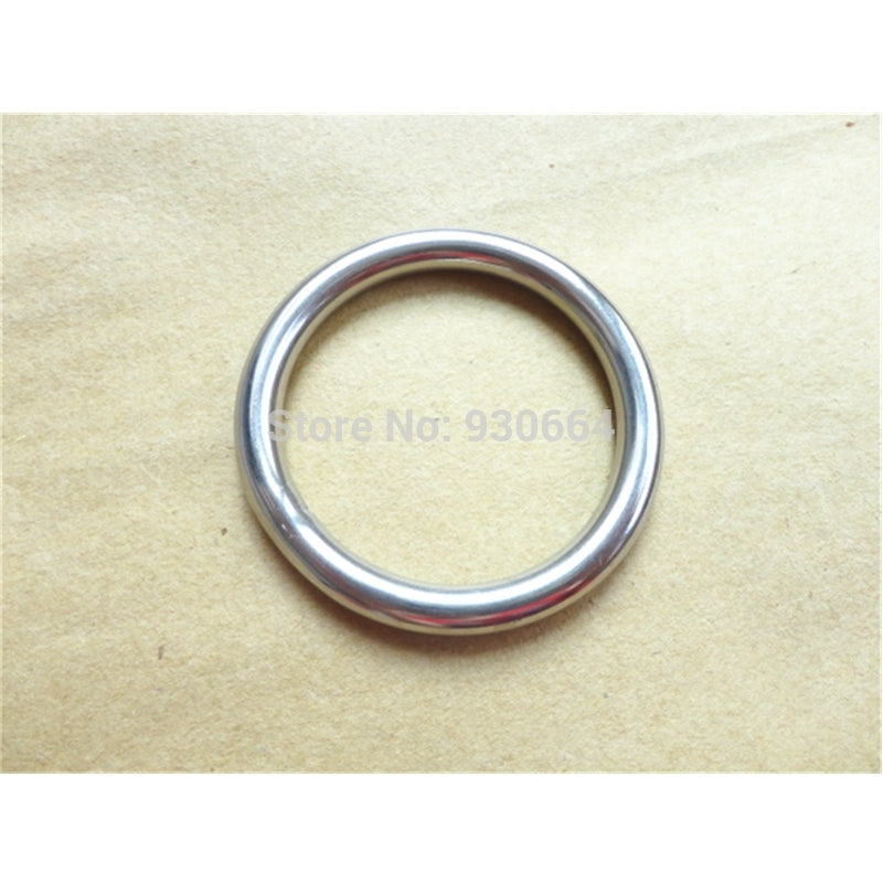 10PCS Stainless Steel Rings Hardware Round Buckles 45mm Round Ring Webbing Buckles Welded Inside Diameter 40mm P041