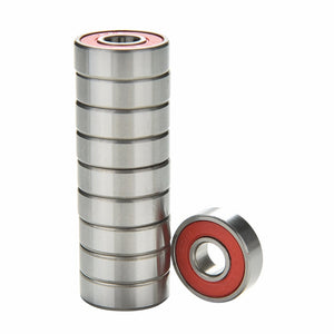 10Pcs Red Bearings For ABEC 9 Stainless Steel High Performance Roller Skate Scooter Skateboard Wheel Bearings