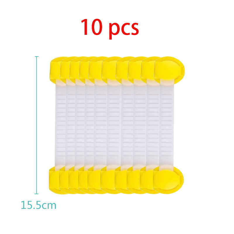 10Pcs Safety Plastic Children Protection Lock Cabinet Door Drawers Refrigerator Toilet Blockers Kids Baby Care Safety Lock Strap