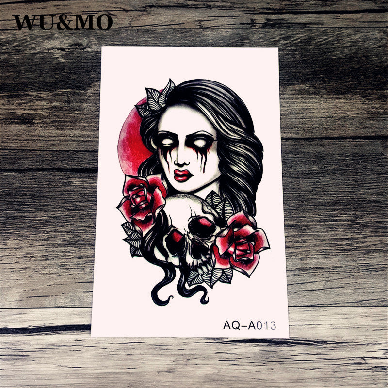 10X15.5cm Sexy Waist Tattoos Waterproof Temporary Arm Tattoos 3d Flash Henna Tattoo sticker For Girls And Man AQ-A013 WU&MO