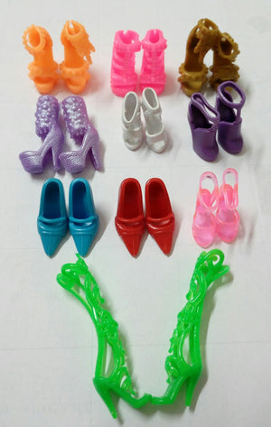 10pairs/lot Fashion Colorful Doll Accessories Shoes Heels Sandals For Barbie Dolls Best Gift For Girl Baby Toys Free Shipping - Cerkos.com