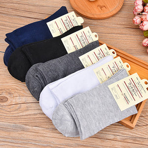 10pcs=5pairs/lot High Quality Men's Business Cotton Socks For Man Brand Autumn Winter Black Socks Male White Casual Socks 2017