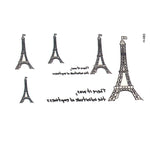 10pcs Eiffel Tower Waterproof Temporary Tattoo Stickers for Girls and Man beautiful Cute Sexy Body Art Beauty Makeup tatoo
