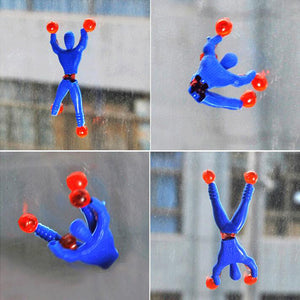 10pcs/lot Funny Novelty products Spider-man toy slime Viscous Climbing Spiderman squeeze Somersault villain funny gadgets toys