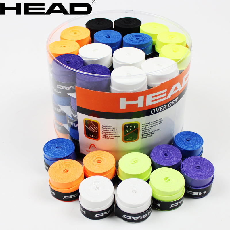 10pcs/lot Head Tennis Racket PU Overgrip Anti-skid Sweat Absorbed Soft Wrap Taps Tenis Racquet Damper Dry/ Vibration Tacky grips
