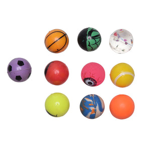 10pcs/lot hot sales toy ball mixed Bouncy Ball child elastic rubber ball Children kids of pinball bouncy toys High quality