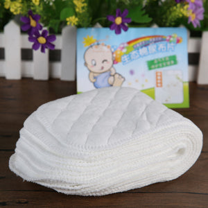 10pcs/set Reusable Washable Baby Cotton Nappy Cloth Diaper Nappy Liner Insert 3 Layers Cotton Washable Baby Care Products