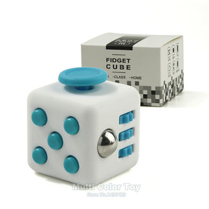 11 Colour Mini Fidget Cube Toy Vinyl Desk Finger Toys Squeeze Fun Stress Reliever 3.3cm Hand Spinner Antistress Cubo With Box