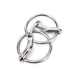 12.5cm Mirror Polishing Stainless Steel Horse Snaffle Bit Loose Ring Bit Horse Equipment