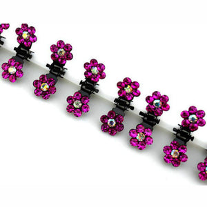 12 Pcs/Set Fashion Women Hairpins Crystal Flower Mini Barrettes Hair Claw Clamp Hair Clip Girls hair accessories 2017 Hot Sale
