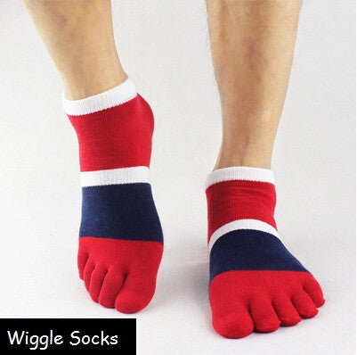 Wiggle Socks Cotton Sports Five Finger Socks Casual Toe Socks Ankle Socks - FREE SHIPPING - Cerkos  - 1