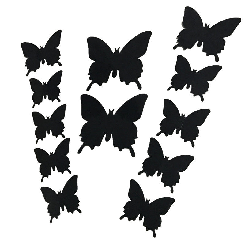12pcs 3d PVC Wall Stickers Magnet Butterflies DIY Home Decor Poster Bar Bathroom Kitchen Accessories Gadgets Wall Decoration