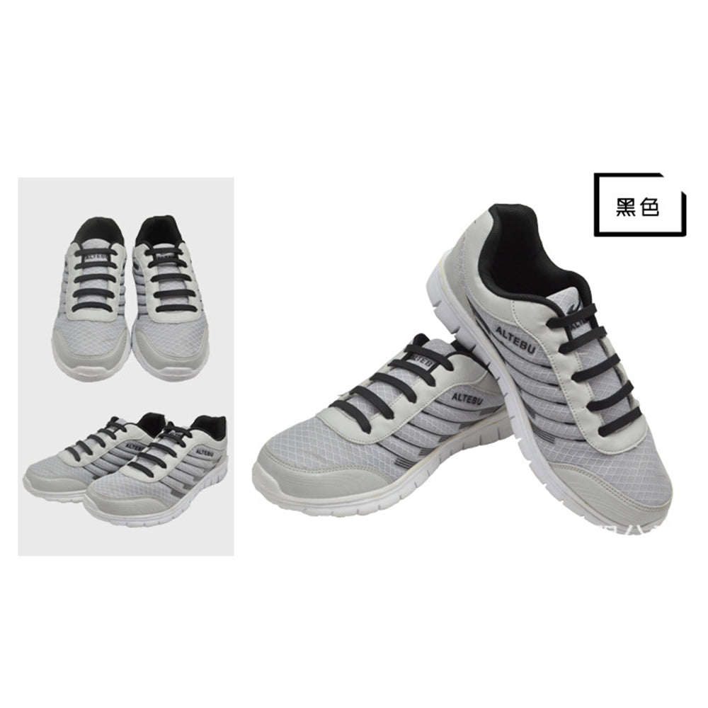 12pcs /Pair Fashion Unisex Athletic Running No Tie Shoelaces Women Men Elastic Silicone Shoe Lace All Sneakers Fit Strap