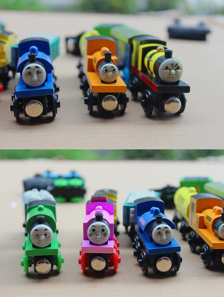 12pcs/lot Thomas and Friends Anime Wooden Railway Trains/Thomas Trains Model/Edward/Gordon Kids toys for Children Christmas Gift