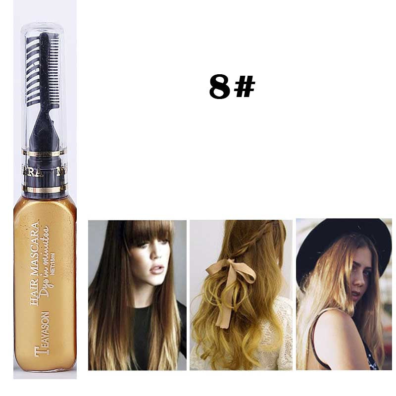 13 Colors One-time Hair Color Hair Dye Temporary Non-toxic DIY Hair Color Mascara Dye Cream Blue Grey Purple - Cerkos.com