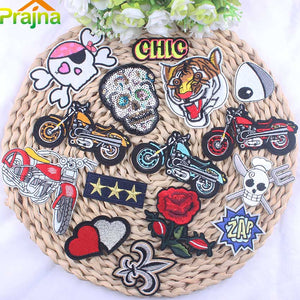 17Pcs Mixed Cheap Embroidered Cartoon Patches For Clothes Stickers Iron On Applique Unicorn Patch Badge For Clothing Accessories