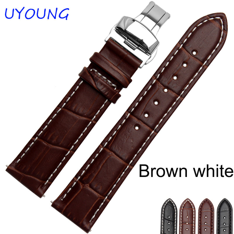 18/19/20/21/22/24mm Hot Sale Genuine Leather Watchband Black Brown Watch accessories For Tissot Strap Bracelet
