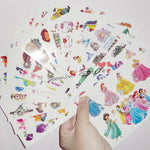 18 sheets / lot kid lovely Temporary tattoo stickers child kid cartoon tattoo princess dora Despicable Me