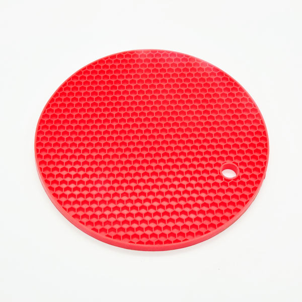 18cm Round Silicone Non-slip Heat Resistant Mat Coaster Cushion Placemat Pot Holder Kitchen Accessories