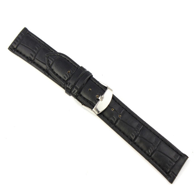 18mm 20mm 22mm Design Sporting Goods Soft Sweatband Faux Leather Strap Steel Buckle Wrist Watch Band For Watches Correa Reloj