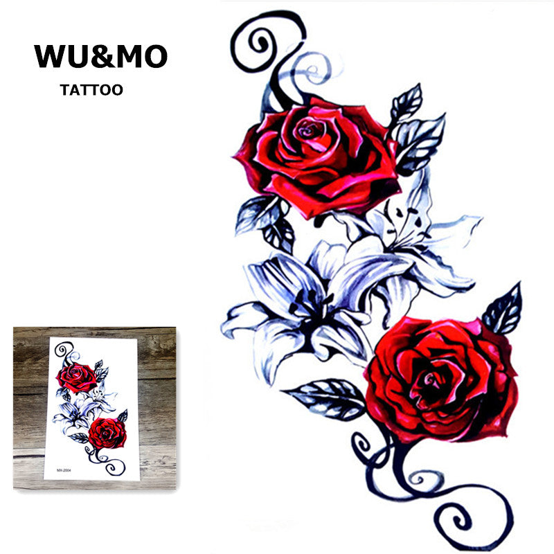 19X12CM Sexy Body Art Beauty Makeup Large Waterproof Temporary Arm Tattoos 3d Henna Tattoo sticker For Girls And Man MX-2004