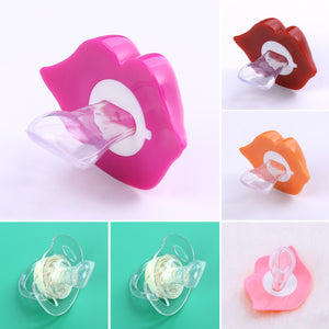 1PC Baby Pacifiers Safe Food Grade ABS Silicone Funny Baby Nipples Baby Infant Teeth Soothers Pacifiers 6 Styls Lip Shape